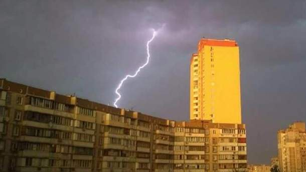 Гроза в Киеве 7 мая