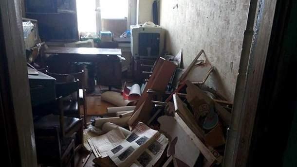 """Погром в офісі """"Трудової Харківщини"""""""