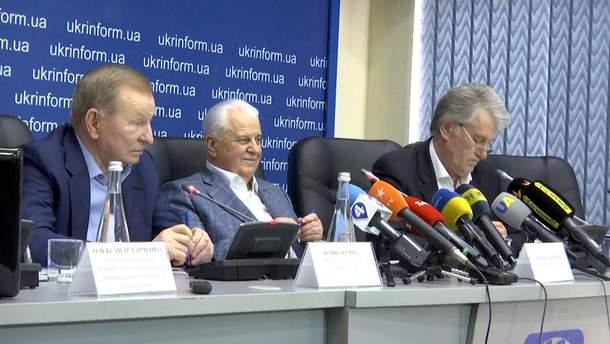 Леонід Кучма, Леонід Кравчук і Віктор Ющенко