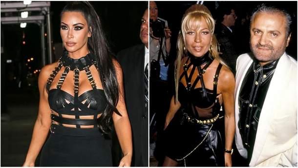 Ким Кардашян повторила образ Донателлы Версаче