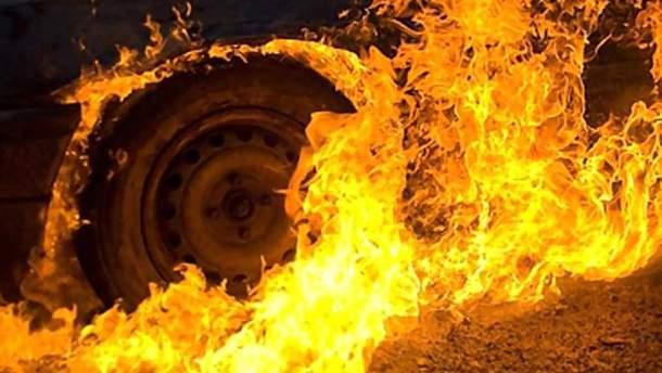 На Львовщине загорелся автобус с пассажирами