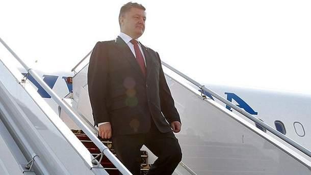 Посол повідомив, що президент України Петро Порошенко прибув до ФРН.