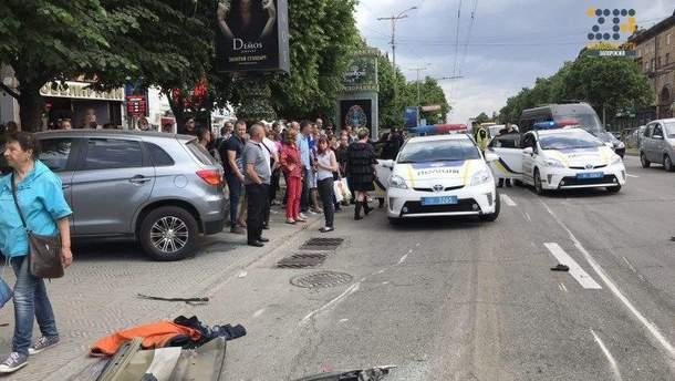 Авария в Запорожье на Сталеваров 10 мая 2018 года