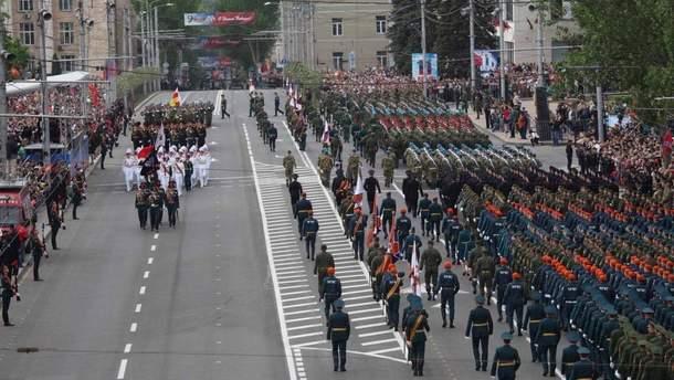 В параде ко Дню Победы в Донецке участвовало вооруженное подразделение из Южной Осетии, – ОБСЕ