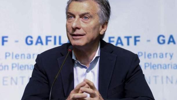 Президент Аргентини Маурісіо Макрі не поїде на Чемпіонат світу з футболу у Росію