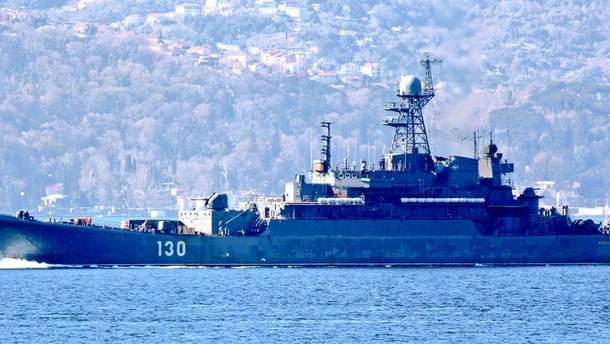 Российские военные корабли заметили у границы Латвии