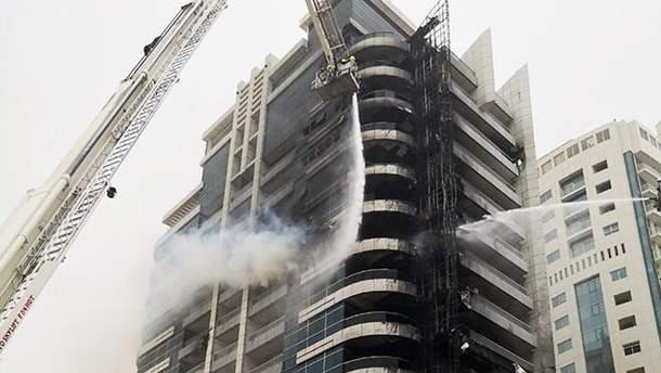 Пожар в небоскребе Zen Tower в Дубае