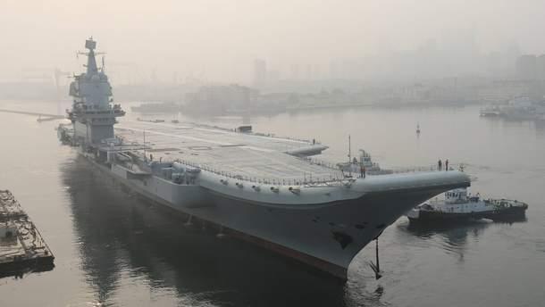 У Китаї в море вийшов авіаносець побудований власними силами країни