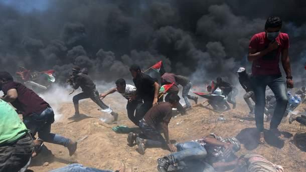На границе между Сектором Газа и Израилем усилились столкновения между палестинцами и израильскими силами правопорядка