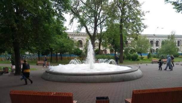 В Киеве хулиганы залили фонтан моющим средством
