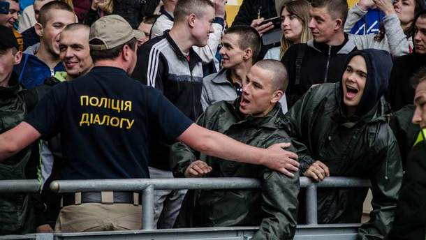 """Учения на НСК """"Олимпийский"""" перед матчем Лиги Чемпионов"""