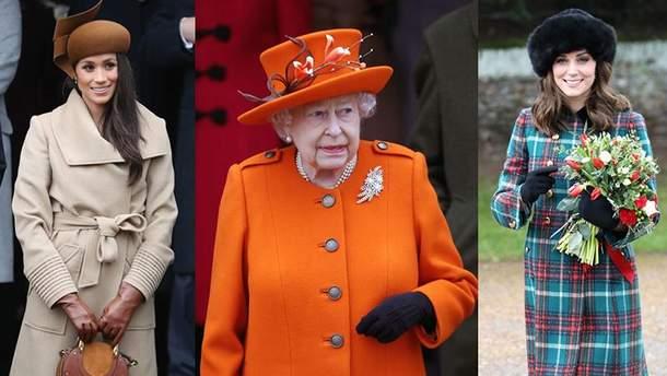 Королева Елизавета II и избранницы принцев