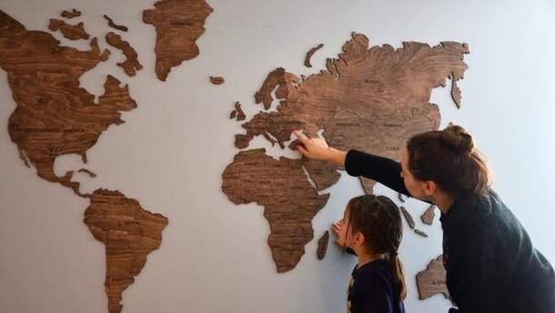 Дерев'яна мапа