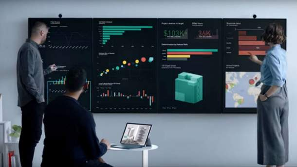 Microsoft показал 50,5-дюймовый компьютер