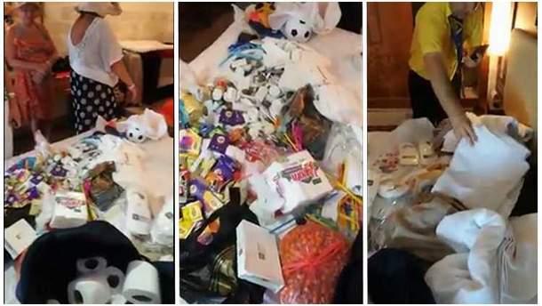 """""""Все включено"""": в Анталії затримано росіянку на крадіжці посуду та туалетного паперу з готелю (відео)"""