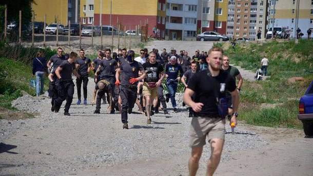 В Киеве на строительстве произошли столкновения