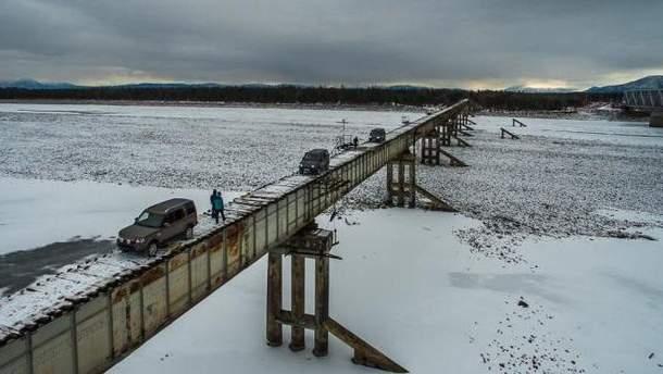 В России обрушился мост: жители забайкальского поселка изолированы от мира
