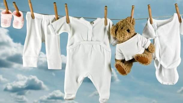 Як правильно прати дитячий одяг