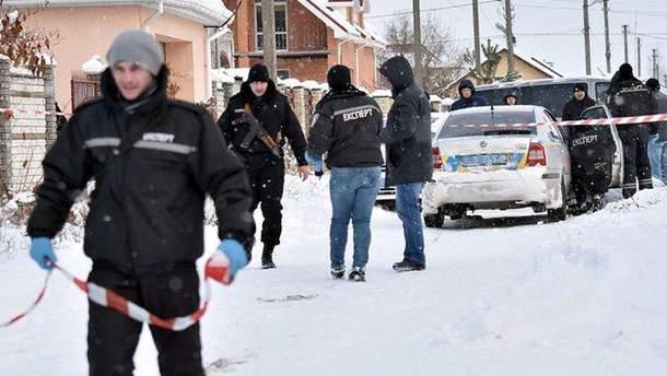 Місце перестрілки поліції у Княжичах 2016 року