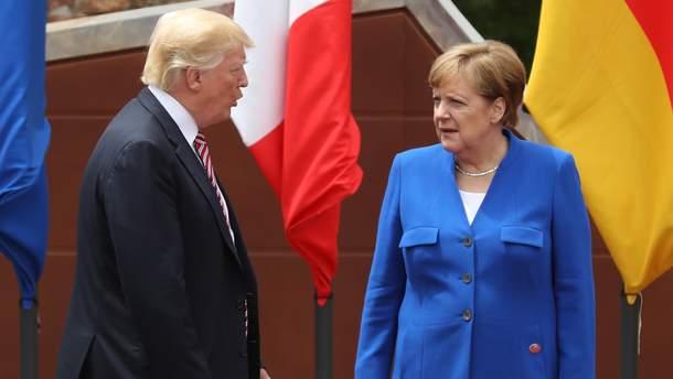 Дональ Трамп і Ангела Меркель