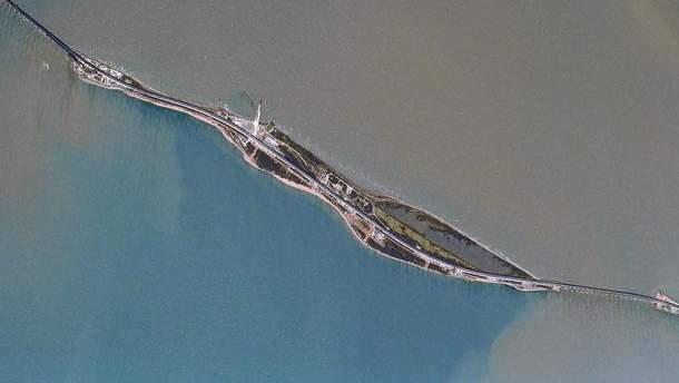 Кримський міст з космосу