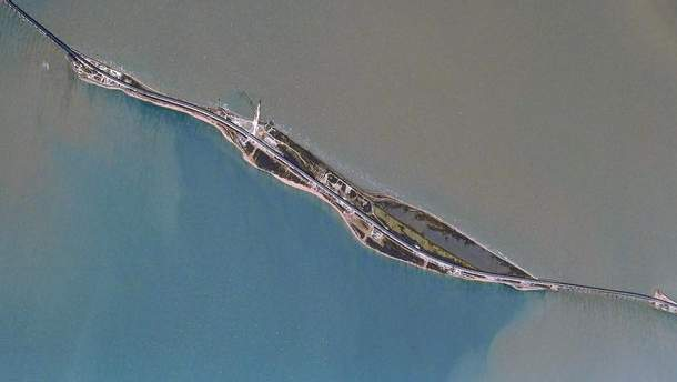Крымский мост из космоса