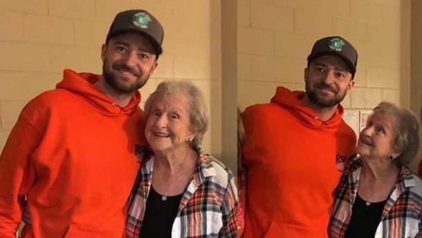 Джастин Тимберлейк сделал неожиданный сюрприз для 88-летней поклонницы: видео