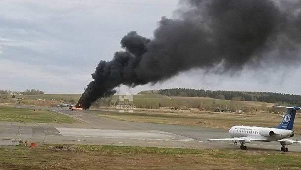 В России загорелся самолет МиГ-31БМ
