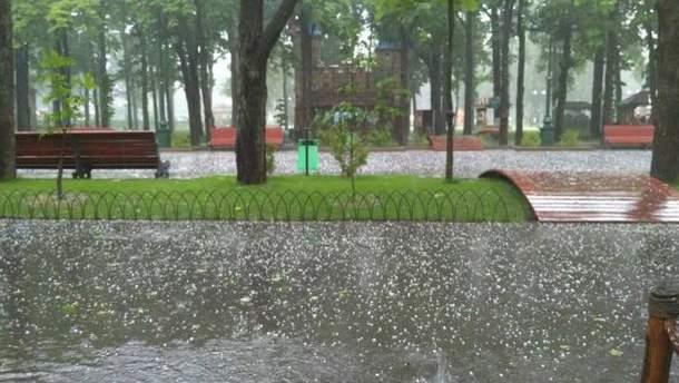18 травня Харковом пройшла злива з градом