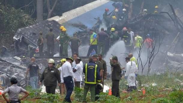 Авария самолета на Кубе