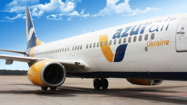 Самолёт Azur Air Ukraine