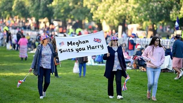 Британцы в ожидании венчания принца Гарри и Меган Маркл