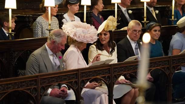 Члени королівської сім'ї на весілля принца Гаррі і Меган Маркл