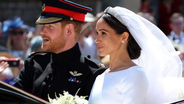 Принц Гаррі та Меган Маркл одружилися: перший спільний вихід подружжя – фото і відео