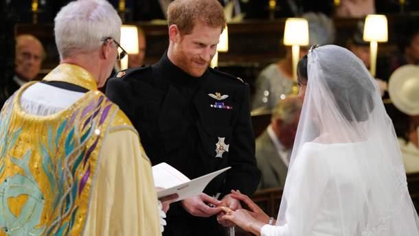 Принц Гарри и Меган Маркл обменялись кольцами