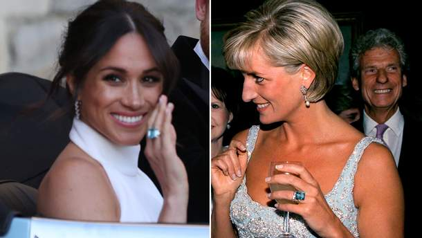 Меган Маркл надела кольцо принцессы Дианы