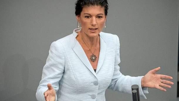 Сопредседатель Левой партии Германии Сара Вагенкнехт
