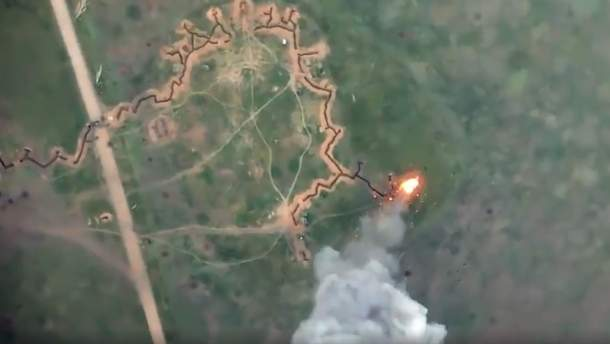 На Донбассе украинские бойцы уничтожили БМП оккупантов