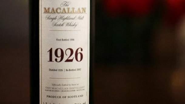 Пляшка віскі Macallan