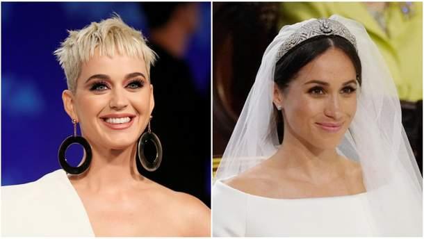Кеті Перрі розкритикувала весільну сукню Меган Маркл