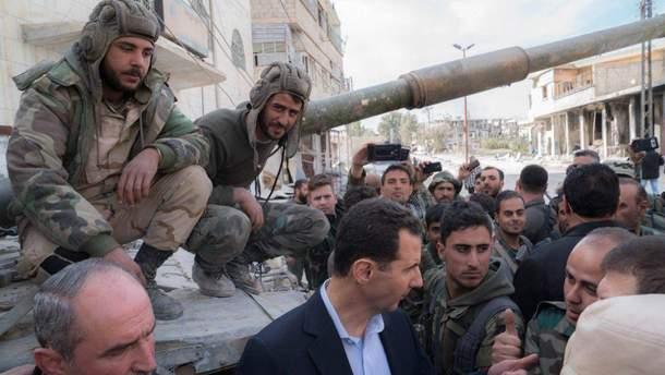 Войска Башара Асада, которого поддерживает Россия, полностью освободили Дамаск от исламистов