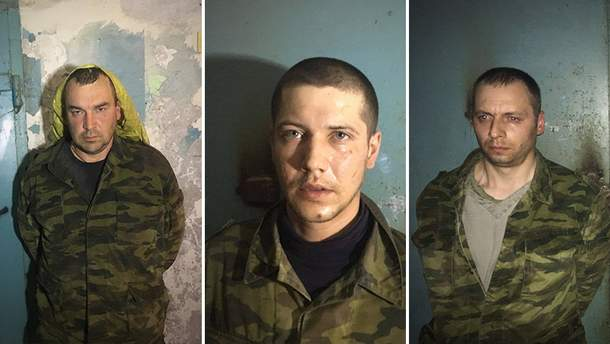 Захваченные в плен боевики на Донбассе
