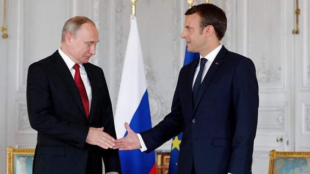 25 травня Путін зустрінеться з Макроном