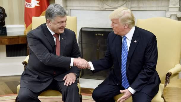 Встреча Петра Порошенко и Дональда Трампа в Белом доме