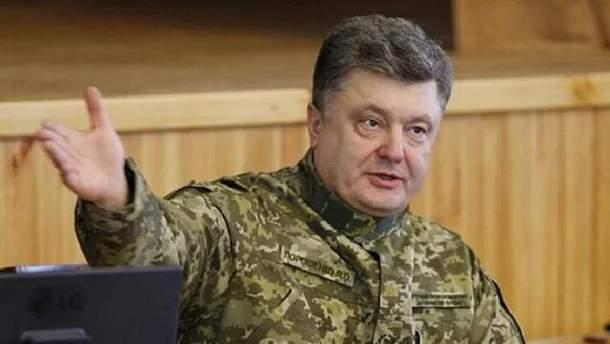 Порошенко рассказал о строительстве помещений, в которых будут жить более 20 тысяч военных