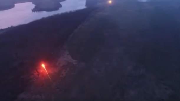 Украинские артиллерия обстреляла в ответ российско-оккупационные войска под Светлодарск
