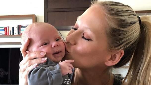 Анна Курникова с дочерью Люси
