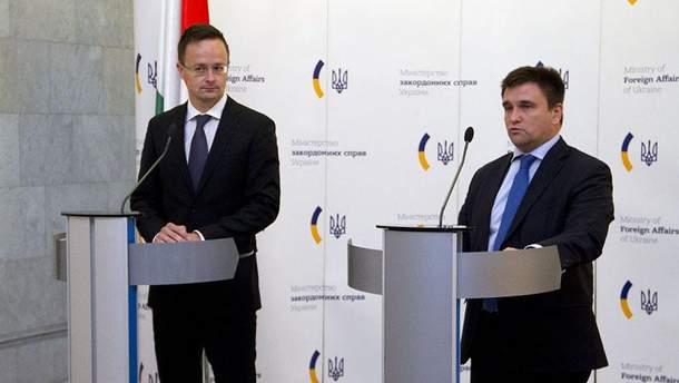 Петер Сийярто планирует обсудить конфликтные вопросы с Павлом Климкиным