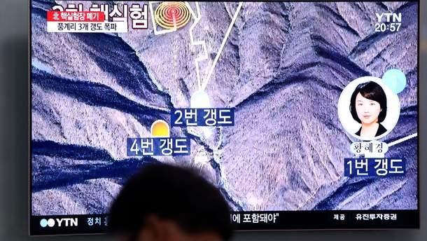 КНДР взорвала ядерный полигон Пунгэри
