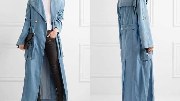 Как носить джинсовый тренч